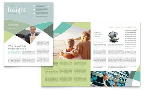 Financial Advisor Newsletter Template