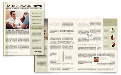 Financial Planner Newsletter Template