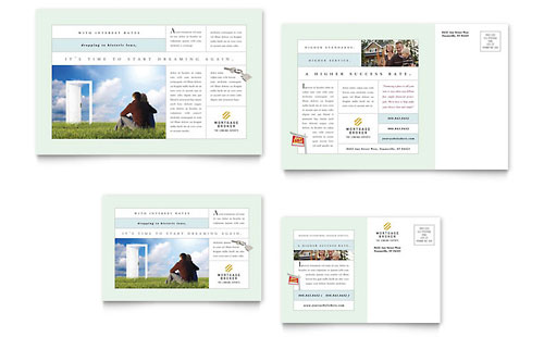 Mortgage Lenders Postcard Template