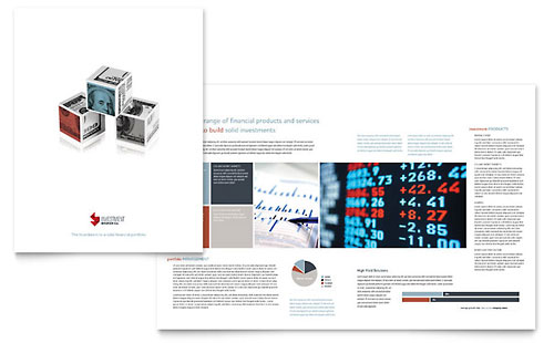 Investment Bank Brochure Template