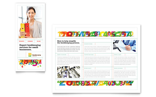Bookkeeping Services Brochure Template