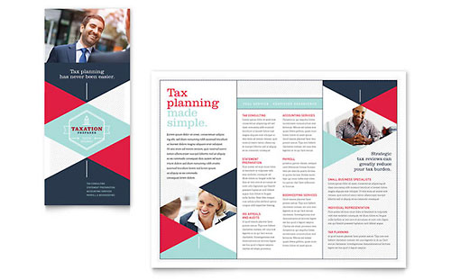 Tax Preparer Print Design Brochure Template