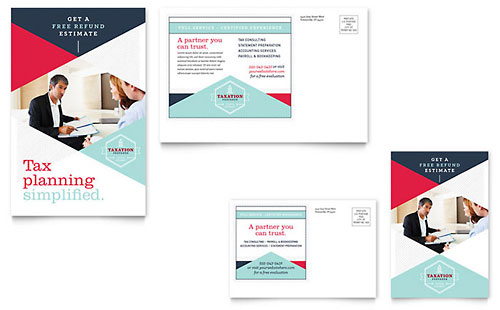Tax Preparer Postcard Template