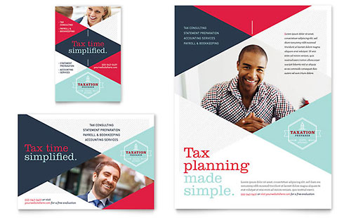 Tax Preparer Flyer & Ad Template
