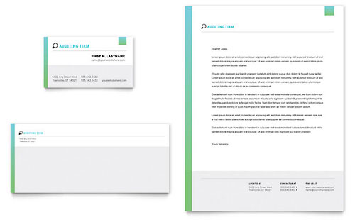 Auditing Firm Stationery Template
