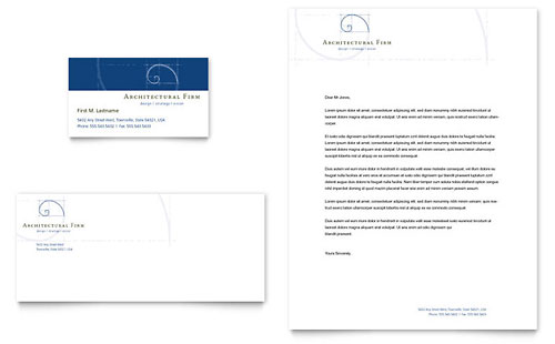 Architectural Firm Business Card & Letterhead Template