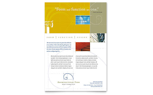 Architectural Firm - Flyer Template