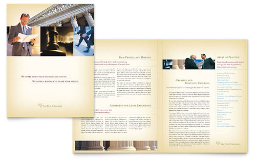 Law Firm 11x17 Brochure Templates – Law Firm Brochure