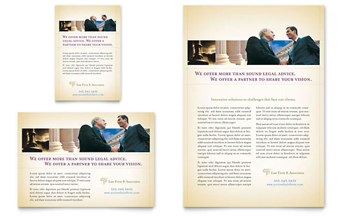Attorney & Legal Services - Flyer & Ad Template
