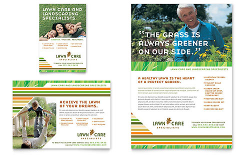 Lawn Care & Mowing Flyer & Ad Template