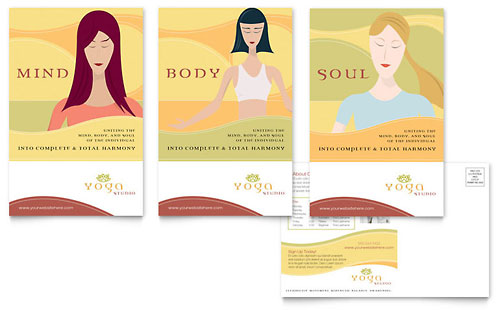 Yoga Instructor & Studio Postcard Template