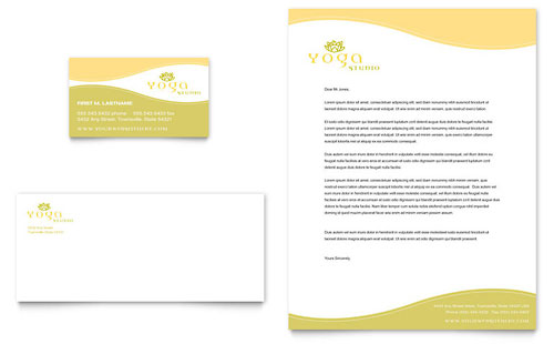 Yoga Instructor & Studio Business Card & Letterhead Template