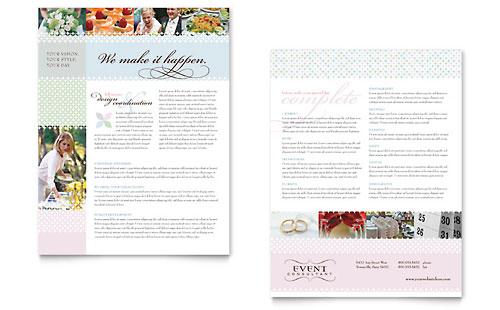 Wedding & Event Planning Datasheet Template