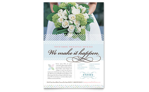 Wedding & Event Planning Flyer Template