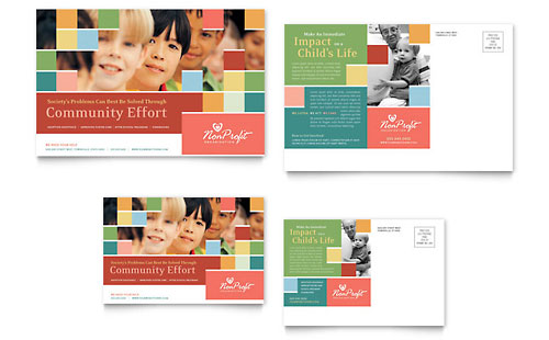 Non Profit Association for Children Postcard Template
