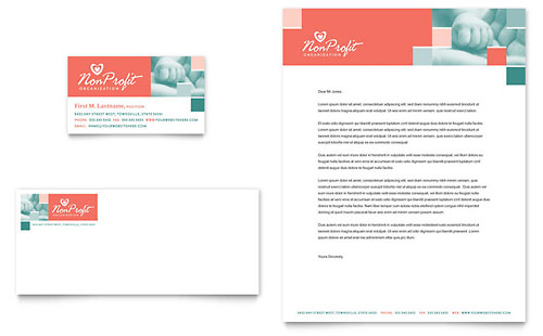 Non Profit Association for Children Business Card & Letterhead Template