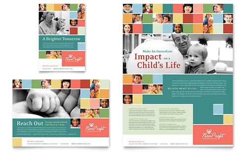 Non Profit Association for Children Flyer & Ad Template