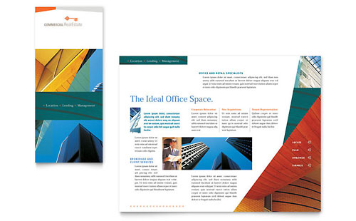 Commercial Real Estate Property Brochure Template