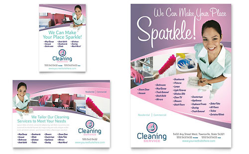 House Cleaning & Maid Services Flyer & Ad Template
