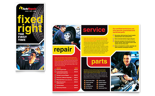 Auto Repair Brochure Template