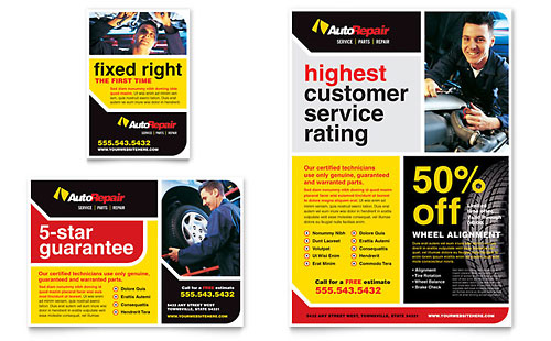 Auto Repair Flyer & Ad Template