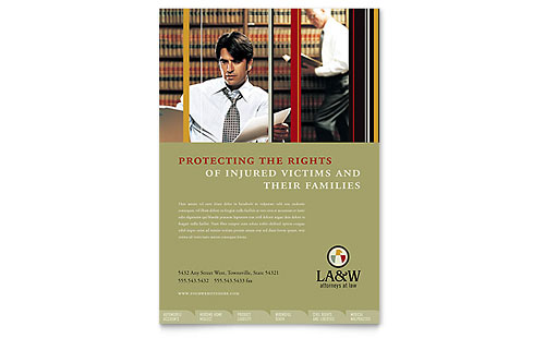 Lawyer & Law Firm - Flyer Template