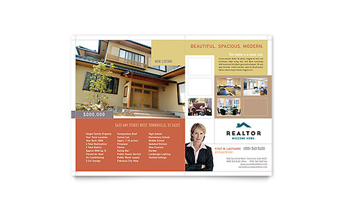 Realtor & Real Estate Agency - Flyer Template