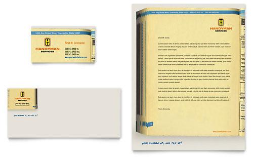 Home Repair Services - Business Card & Letterhead Template