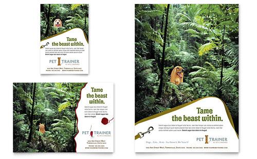 Pet Training & Dog Walking Flyer & Ad Template