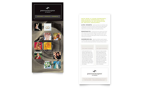 Photography Studio Rack Card Template