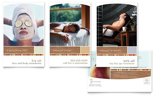 Health & Beauty Spa Postcard Template