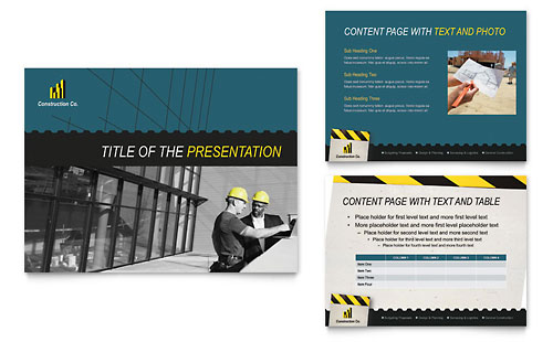Industrial & Commercial Construction PowerPoint Presentation Template
