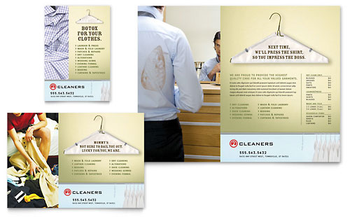 Laundry & Dry Cleaners Flyer & Ad Template