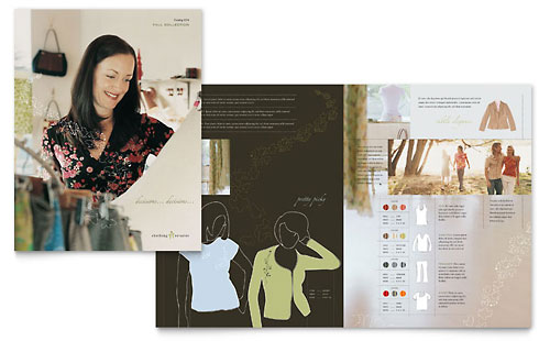Women's Clothing Store Brochure Template