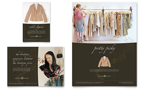 Women's Clothing Store Flyer & Ad Template