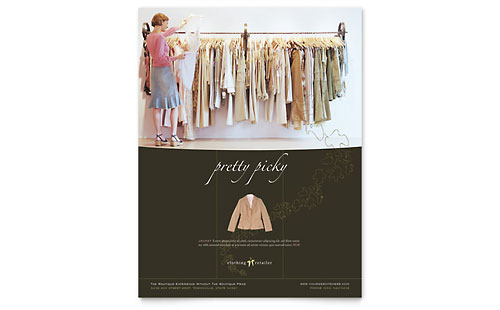 Women's Clothing Store Flyer Template