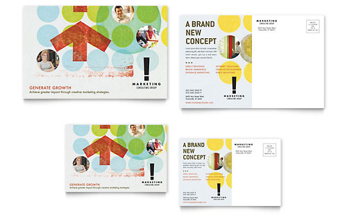 Marketing Consultant Postcard Template