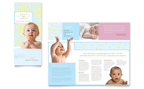 Infant Care & Babysitting Brochure Template