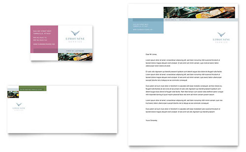 Limousine Service Business Card & Letterhead Template