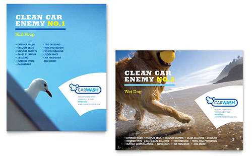 Car Cleaning - Poster Template