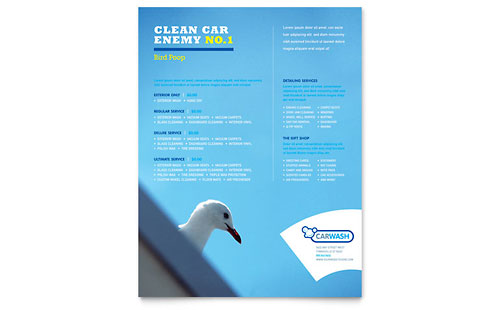 Car Cleaning - Flyer Template