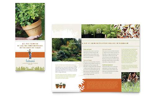 Landscape & Garden Store Brochure Template