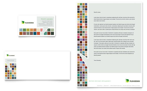 Carpet & Hardwood Flooring - Business Card & Letterhead Template