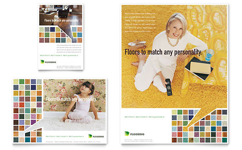 Carpet & Hardwood Flooring Flyer & Ad Template