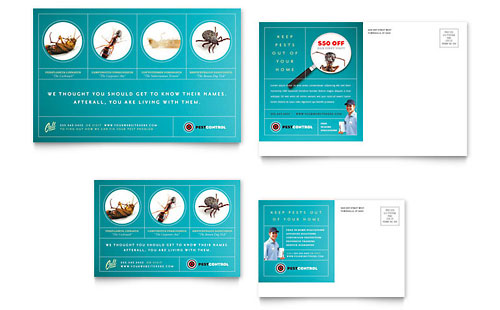 Pest Control Services Postcard Template