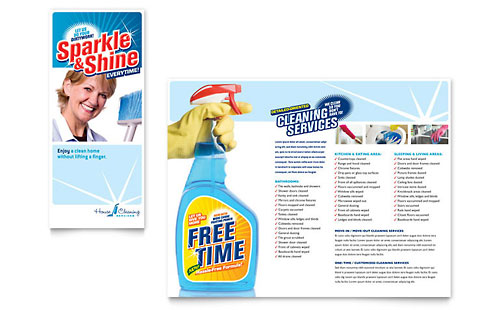Swimming Pool Service Brochure Design : Swimming pool cleaning service brochure template design