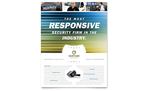 Security Guard - Flyer Template