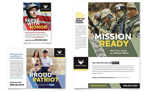 Military Flyer & Ad Template