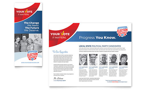 Election - Pamphlet Sample Template