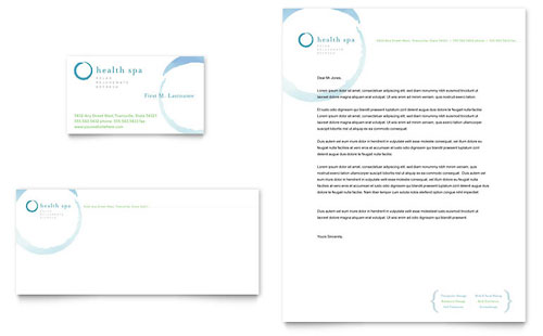 Day Spa & Resort Business Card & Letterhead Template